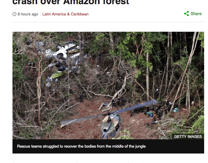 Brazil tribe gets compensation from 2006 airplane crash